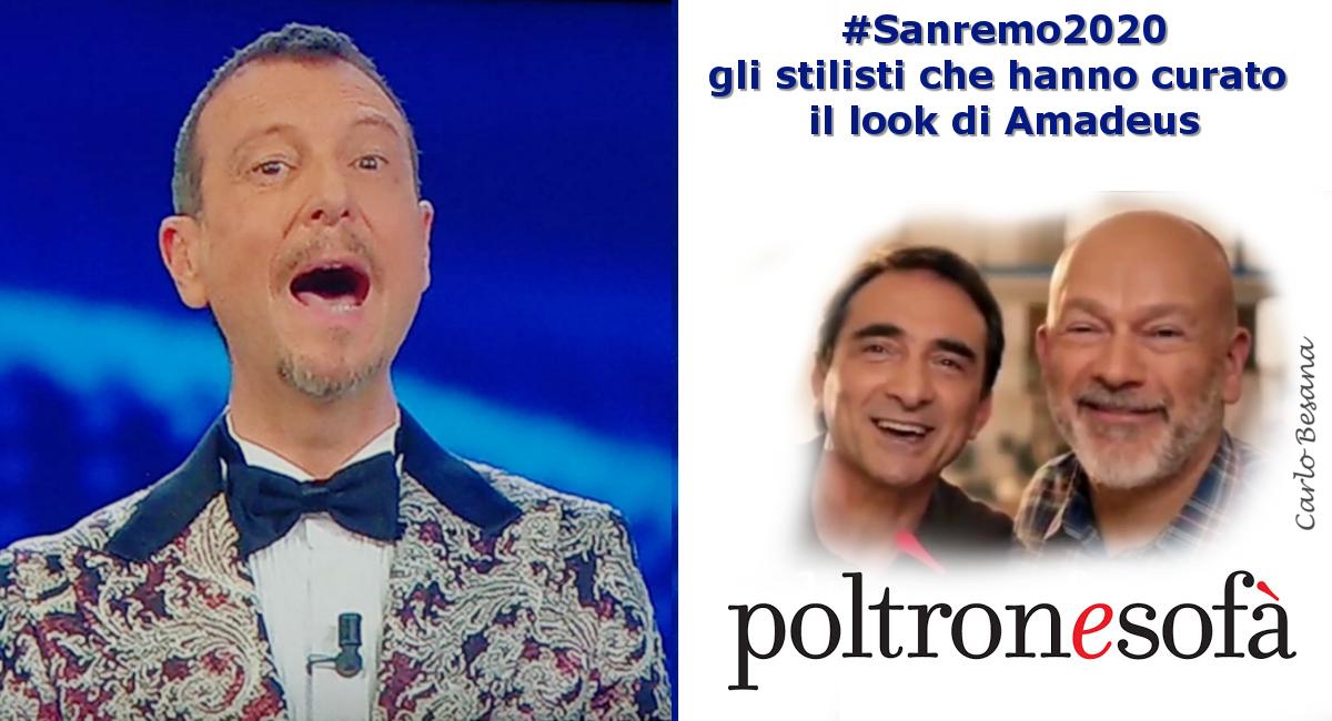 Sanremo 2020, gli stilisti che curano il look di Amadeus…