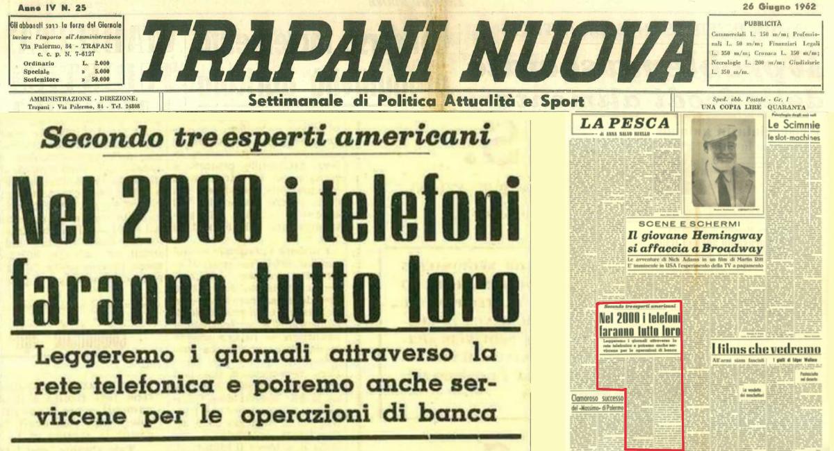 """la """"profezia"""" di """"Trapani Nuova"""", nel lontano 1962…"""